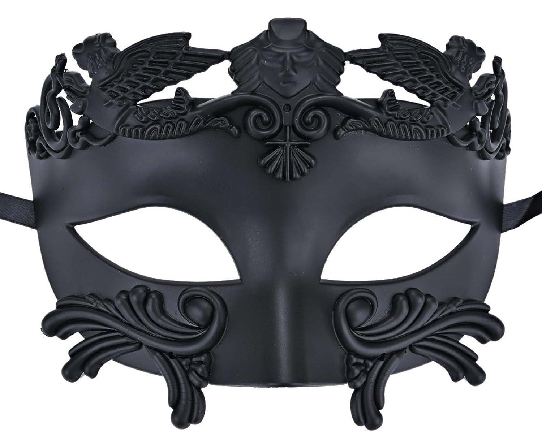 amazon com coxeer mens masquerade mask greek party mask black