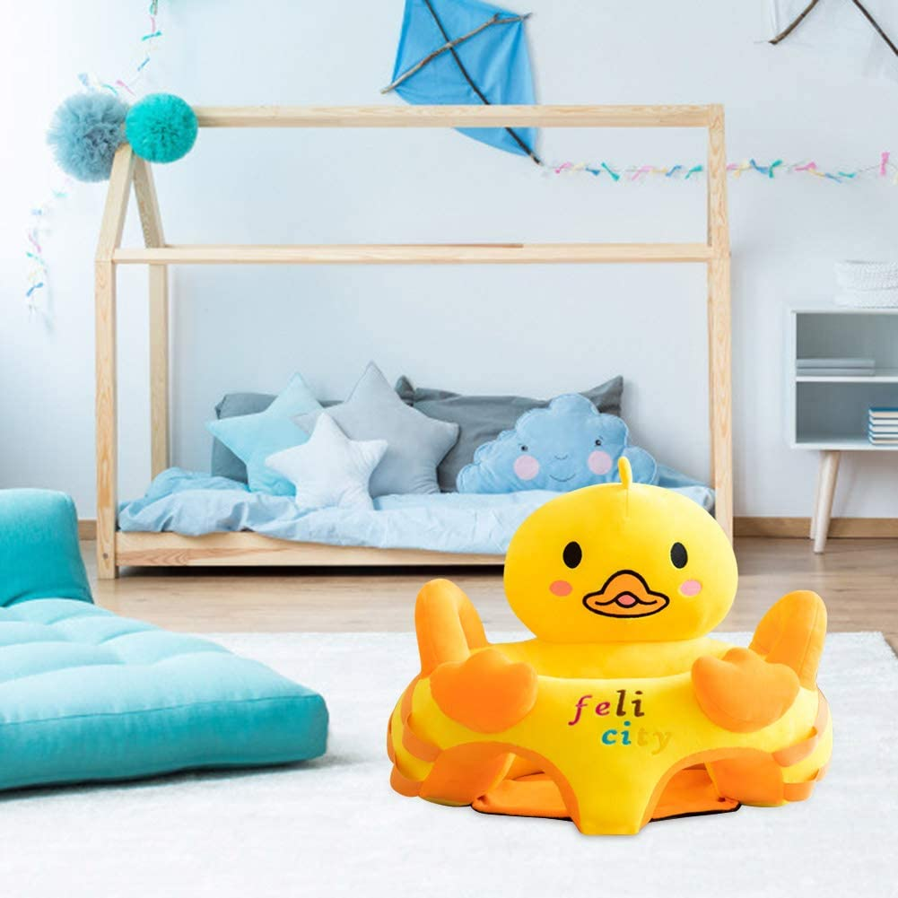 Vakind Baby Sofa Baby Chairs Sitting Learning Infant Seat Cartoon Cute Toddlers Sofa Covers Anti-Fall Chair Baby Early Education Gift Frog, Without Toys