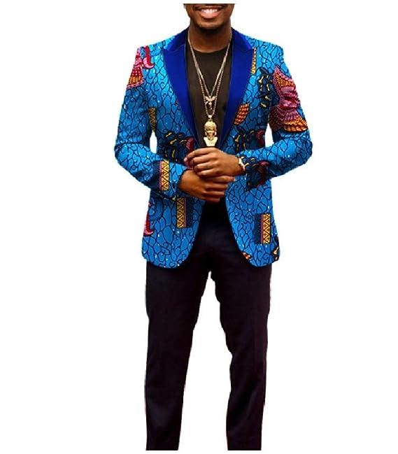 Andopa Traje chaqueta impresa africana de algodón básico ...