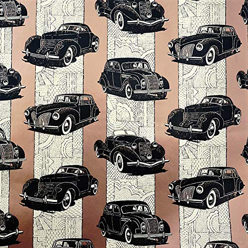 Classic Cars Vintage Themed Gift Wrapping Paper Roll - 24