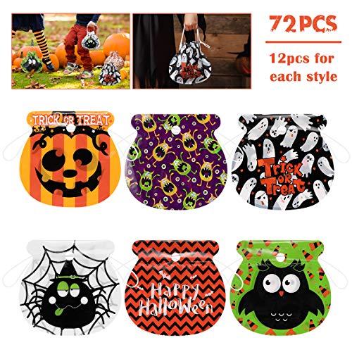 Halloween Goodie Bag - Amosfun 72PCS Halloween Candy Bags Drawstring