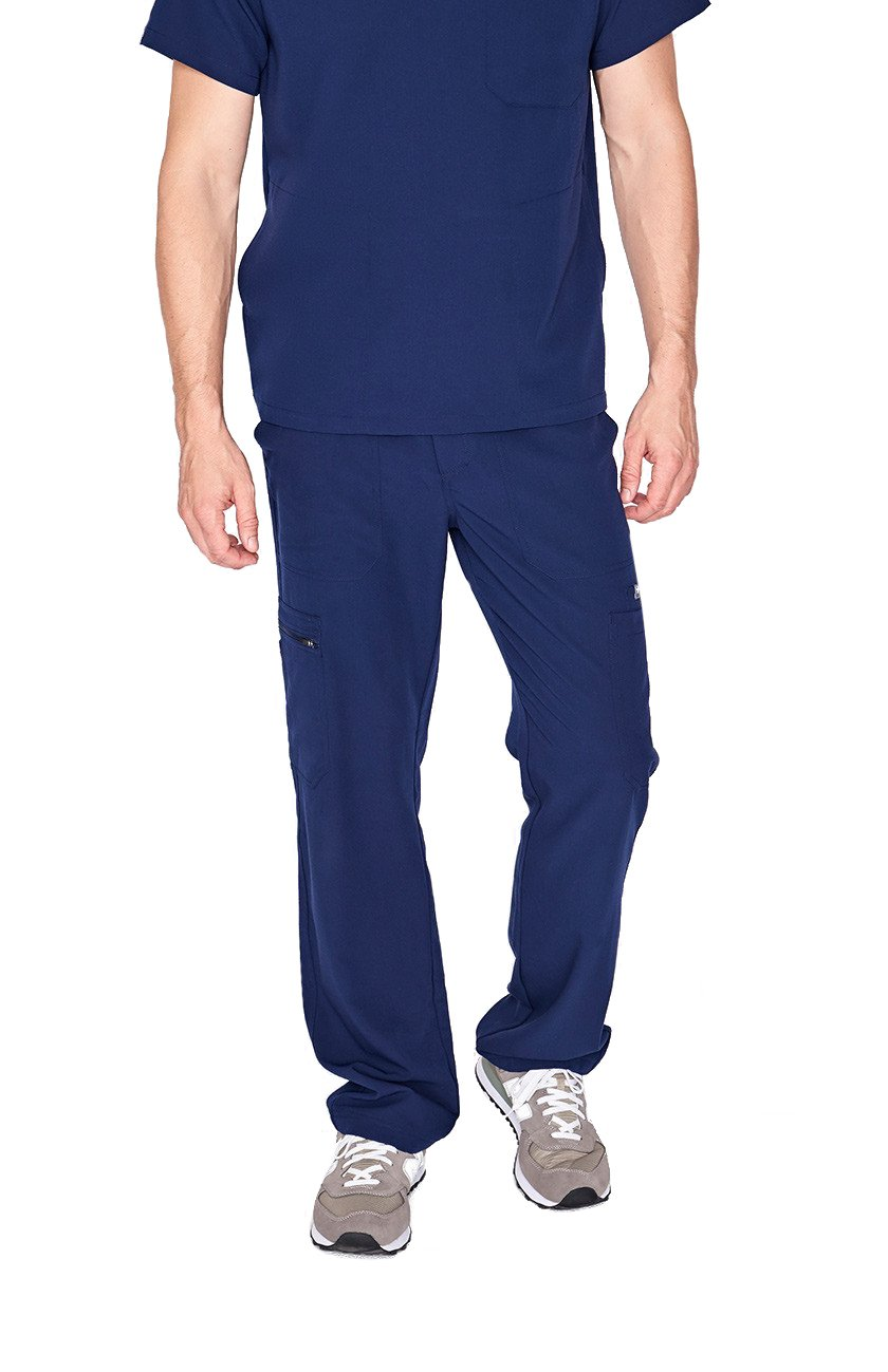 FIGS Medical Scrubs Men's Cairo Cargo Pants (Navy Blue, XL)