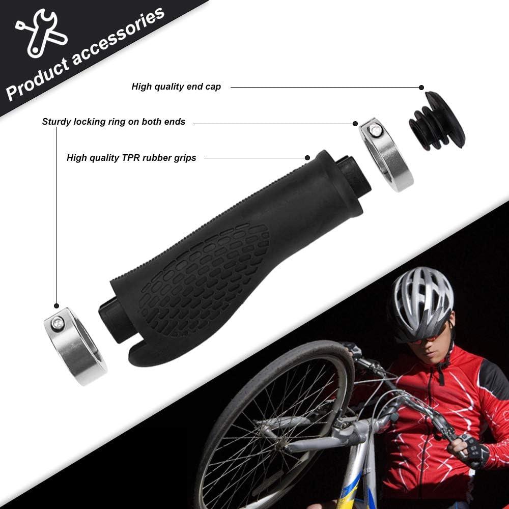 Bike Hand Grips Gomma Manopole Ergonomiche da Manubrio Bicicletta Antiscivolo e Impermeabile SKYSPER 1 Paio Impugnature per Manubrio Bici