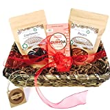 Organic Nuts and Superfoods Romantic Gift Basket