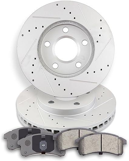 Rear Brake Rotors and Metallic Pads fits 2004 2005 BUICK CENTURY