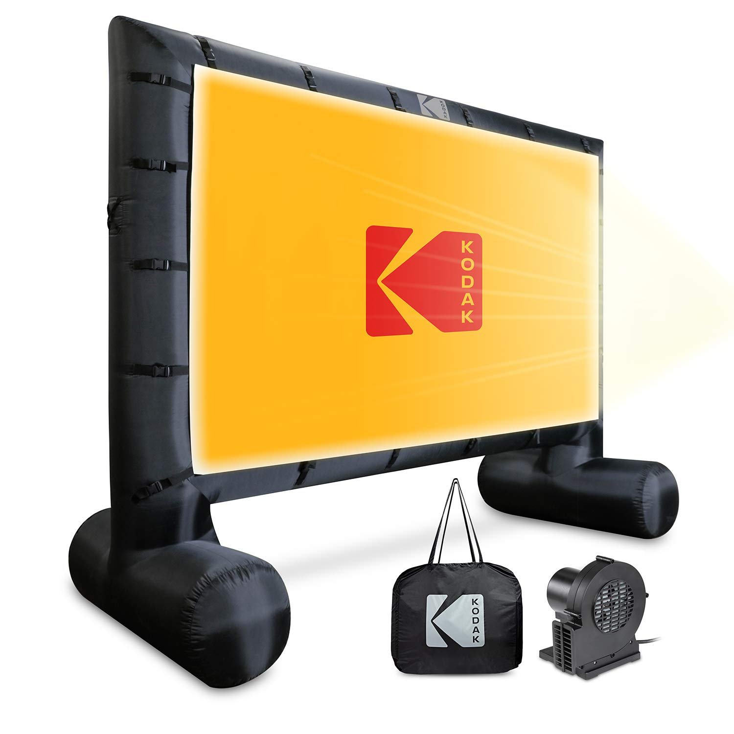 KODAK Inflatable Outdoor Projector Screen | 14.5 Feet, Blow-Up Screen for Movies, TV, Sports Games & More | Includes Air Pump, Storage Carry Case, Stakes, Repair Patches by KODAK