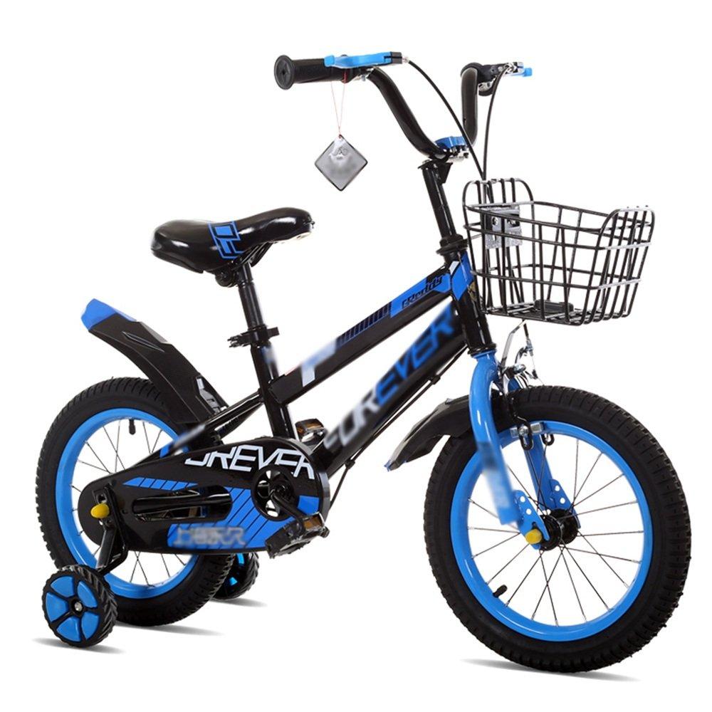 HAIZHEN マウンテンバイク 子供用自転車 トレーニングホイール付きの少年の自転車と少女の自転車 12インチ、14インチ、16インチ、18インチ アウトドアアウト 新生児 B07C6TTJDX 14 inch|青 青 14 inch