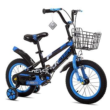 Bicicletas YANFEI Niños Niño Niña con Rueda De Entrenamiento 12 Pulgadas, 14 Pulgadas, 16 Pulgadas, 18 Pulgadas Excursión Al Aire Libre Regalo para Niños: ...