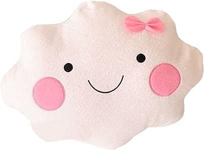 Flying Higher Kawaii Smiley Face Cloud Cushion with Bow