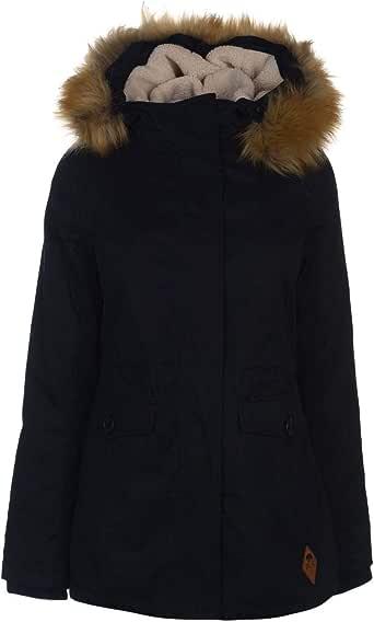 SoulCal Short Parka Jacket Womens Black Coats Outerwear UK 8 (XSmall)