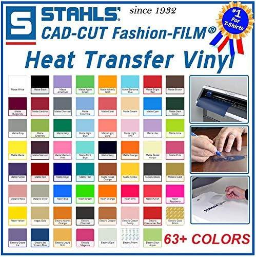 """12/"""" x 5 Yards Stahls/' Stretch Heat Transfer Vinyl HTV Black"""