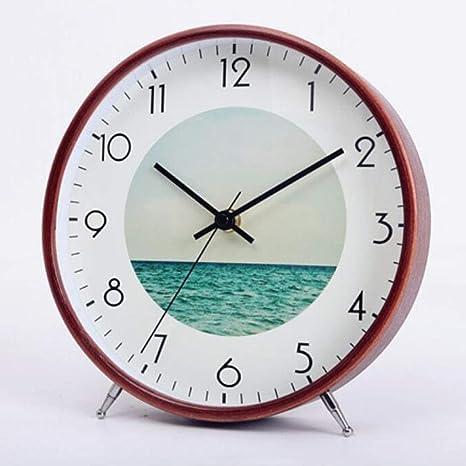 CWLLWC Reloj, Mesa de la Sala de Estar, Reloj de Mesa, Reloj ...