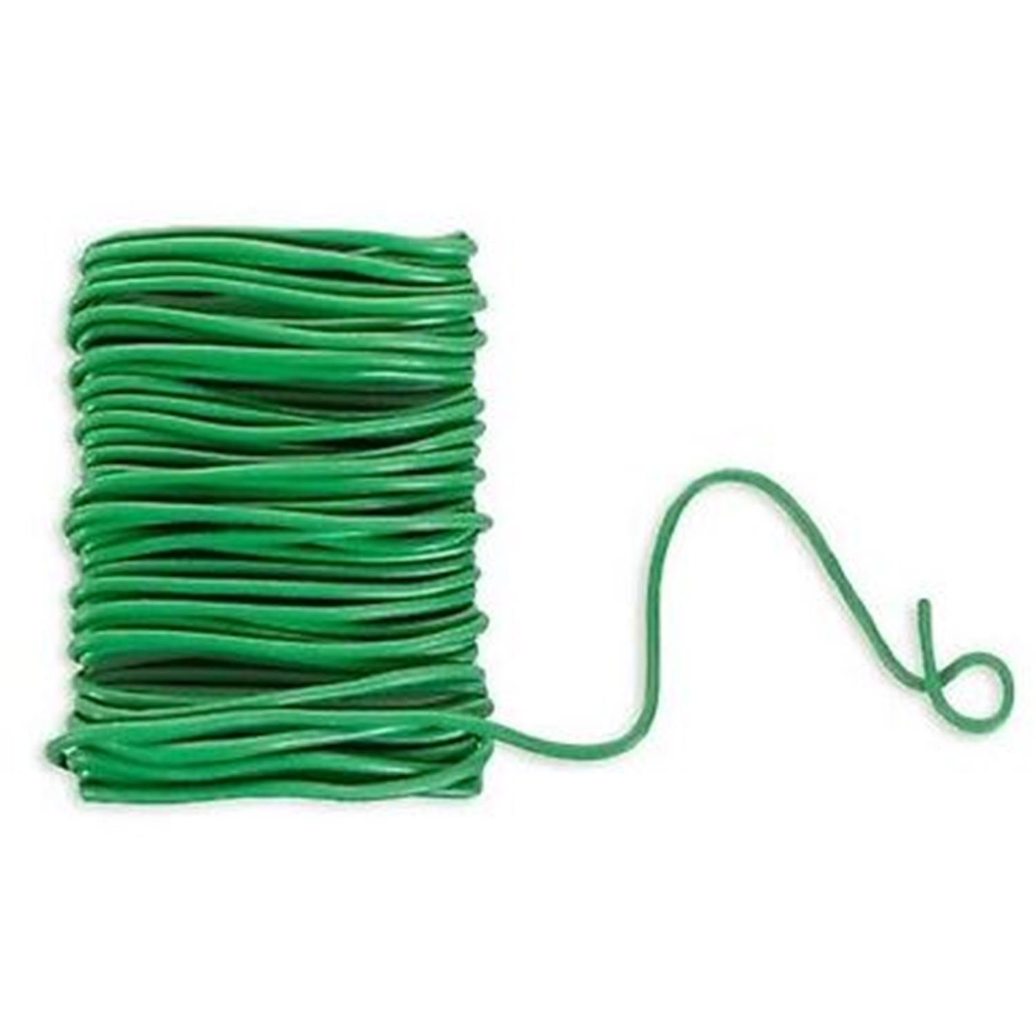 12Ft Rubber Coated Flex, Bendable, Reusable Plant Wire-Support Plant Vines, Stems & Stalks-Won't Rust, Slip or Stretch-Perfect For Tying Vines To Stakes-Support Fruit,Laden Branches Against Wind