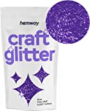 "Hemway Craft Glitter 100g 3.5oz FINE 1/64"" 0.015"" 0.4MM (Purple)"
