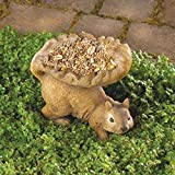 Outdoor garden Woodland Squirrel Birdfeeder nice decor