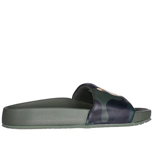 Polo Ralph Lauren Hombres Zapatillas Sandalias en Goma Nuevo Verde ...