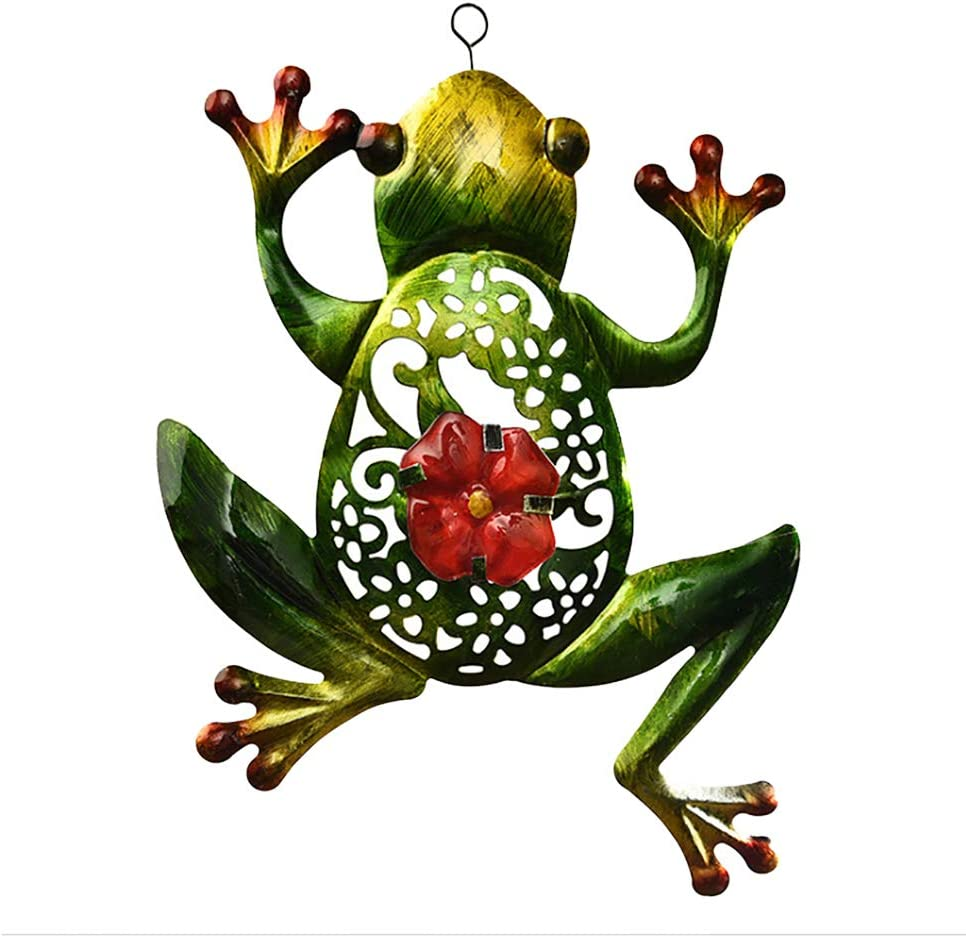 XINYI Frog Wall Decor, Outdoor Indoor Metal Art Stained Frog Hanging Ornaments