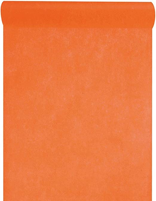 Camino de mesa naranja, 10 m de largo, 30 cm de ancho, fieltro ...