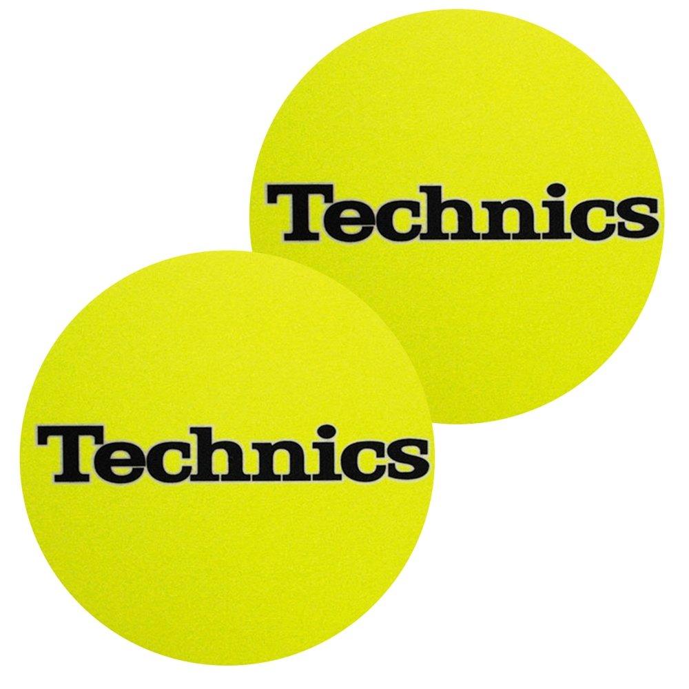 2 x Technics Slipmats amarillo con negro logo: Amazon.es ...