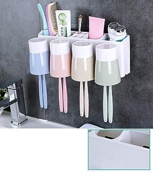 ZDYSGLV Dispensador automático de Pasta de Dientes y Soporte para cepillos de Dientes. Exprimidor múltiple