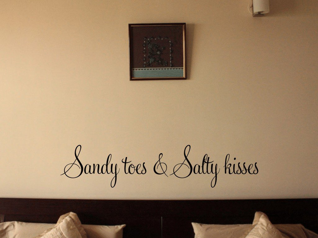 Amazon.com: Sandy Toes & Salty Kisses Vinyl Wall Decal: Home & Kitchen