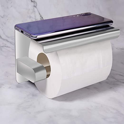 Toilet Roll Tissue Paper Holder 304 Stainless Bathroom Chrome Round Wall Mounted