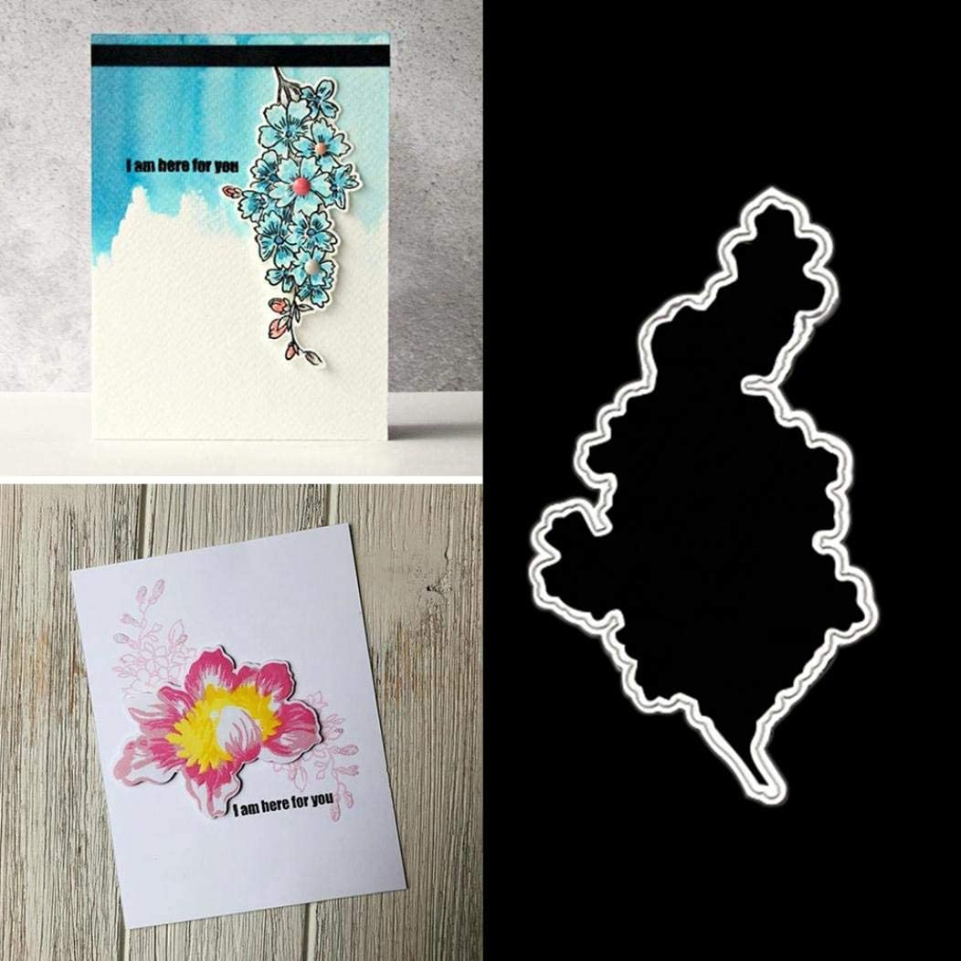 Silver YESZ Scrapbooking /& Stamping,Cutting Dies,Flower Border Metal Cutting Dies DIY Scrapbook Paper Cards Making Punch Stencil