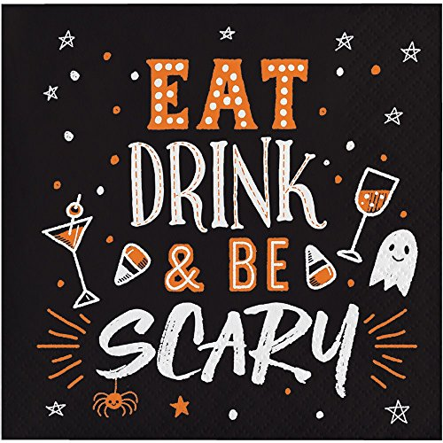 Cute Funny Halloween 5.5 inch Cocktail Beverage Napkins -