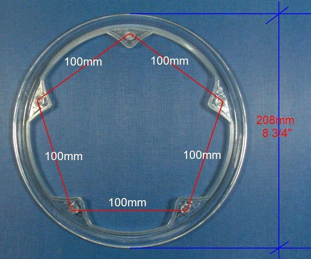 100mm BCD 5 bolts NEW-J Bike Chainring Chain Guard 48T