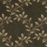 6'x15'Organic Evergreen Indoor Cut Pile Leaf Pattern Area Rug for Home with Premium BOUND Polyester Edges.