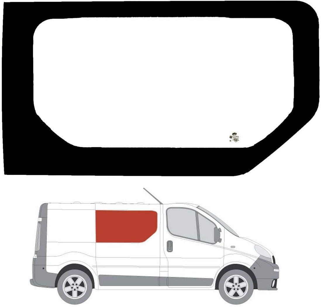 Mano derecha claro ventana lateral fijo para Panel lateral para Vauxhall Vivaro (2002 – 2014): Amazon.es: Coche y moto