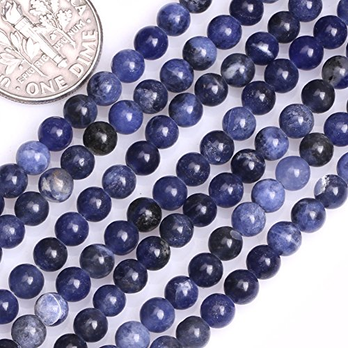 GEM-inside Sodalite Gemstone Loose Beads 4mm Round Stone Natural Energy Power Beads For Jewelry Making 15