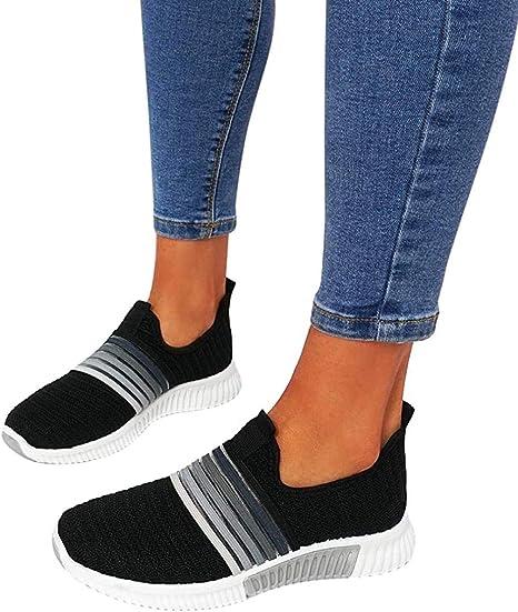 KIDsstz Zapatillas Running para Mujer Ligeras Transpirables de Malla Aire Libre y Deporte Transpirables Casual Zapatos Gimnasio Correr Sneakers Mesh Running Transpirable Sneakers: Amazon.es: Deportes y aire libre