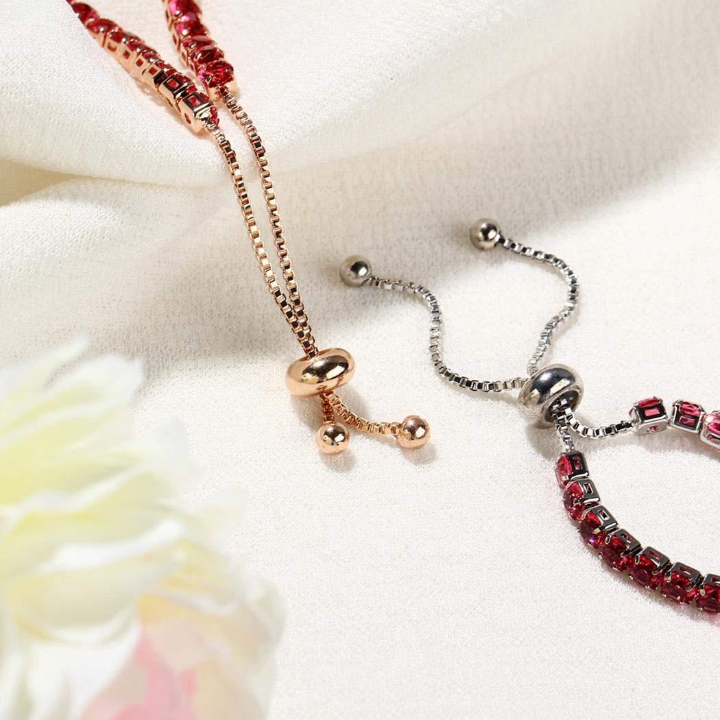Oplon Women Fashion Jewelry Shining Artificial Crystal Bracelet Bridal Jewelry Bracelets
