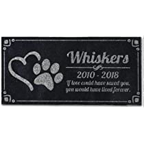 Personalized Great Pyrenees Dog Pet Memorial 12x6 Engraved Granite Grave Marker Headstone Plaque Blakey