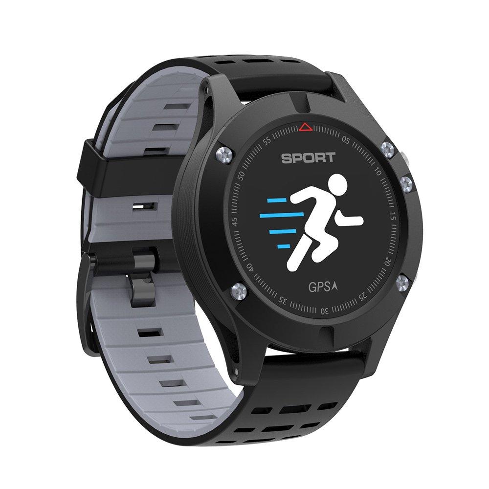 Montre de sport Bluetooth, GAKOV GAF5 Bracelet étanche intelligent Montre de fitness à écran couleur avec GPS & Moniteur de fréquence cardiaque pour les ...
