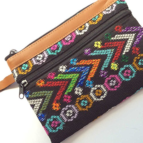 Recycled Mayan Fabric Wristlet, Ethically Sourced