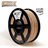 Real Wood PLA 3D Printer Filament- Wood Filament 1.75 mm,1KG(2.2LBS) Spool, Dimensional Accuracy +/- 0.02 mm,Wood Filament