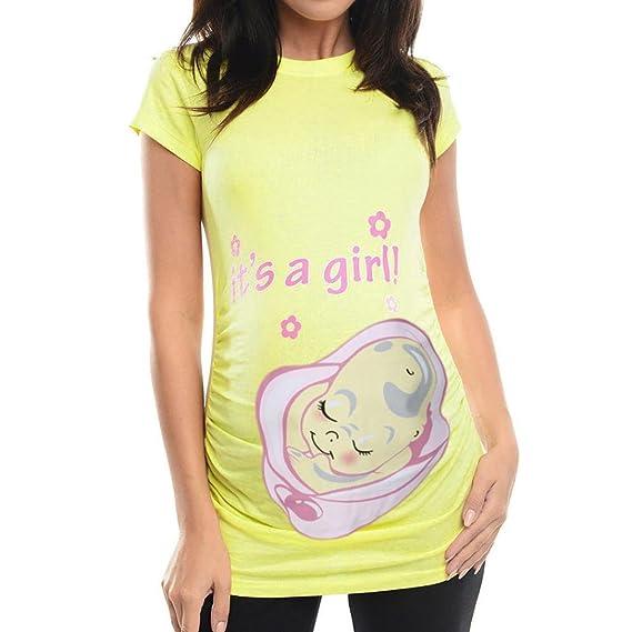 Zolimx® Ropa Premama Verano 2018 Barata, Mujeres Impresiones Embarazadas Ocasional Enfermería Blusa Camiseta de