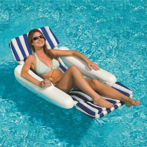 (Swimline 10010 SunChaser Swimming Pool Padded Floating Luxury Chair Lounger)