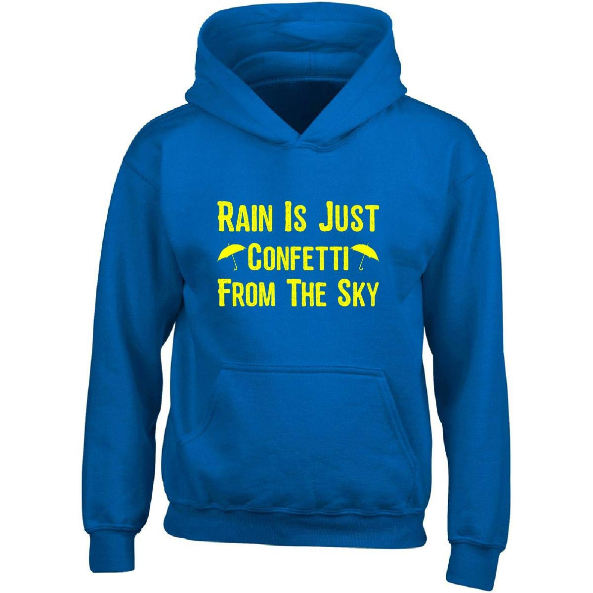Adult Hoodie Green Cow Land Rain is Just Confetti from The Sky1