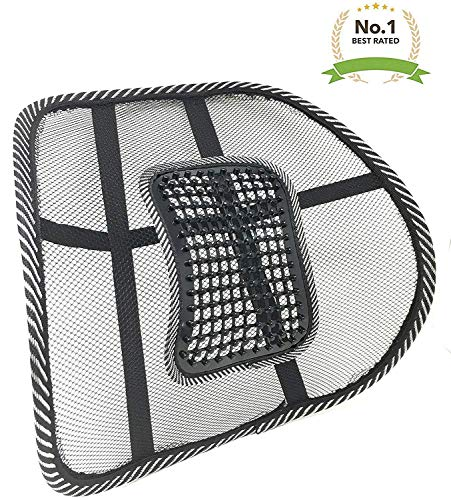 New Lightweight Mesh Back Support with Massage Vent Posture Corrector Orthopedic Massage Pressure Point Ergonomic Design Lower Back Pain Support Car Seat Chair Cushion Pad for Office, Car,Travel (2) Cool Mesh Back Support