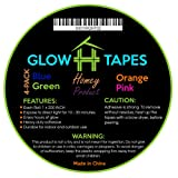 Glow in Dark Tape | Heavy Duty Set of 4 Bright