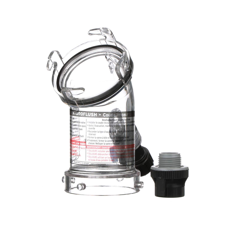 Valterra 45 Degree Hydroflush Attachment with Removable Anti-Siphon Valve for RV, Camper, Trailer