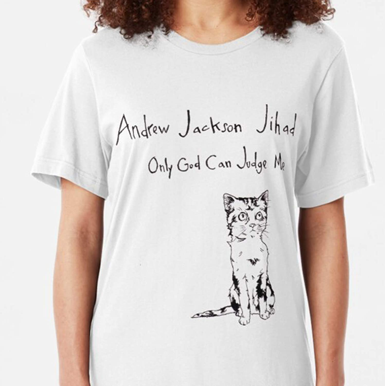 Decal Andrew Jackson Jihad Only God Can Judge Me Cat Shirt Cat T Shirts For Men Women Cat Owner Cat Mom Dad Shirts Cat Lover Cat Gift Kids Amazon Ca Handmade