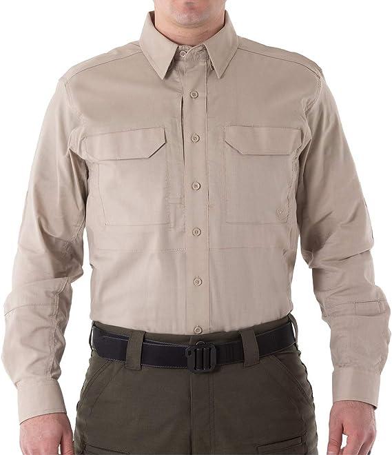 First Tactical Hombre V2 Manga Larga Táctico Camisa Caqui: Amazon.es: Ropa y accesorios