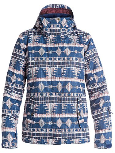 S Produttore Motivo giacca Donna Jetty taglia Colore Blu Farfalle Sci Taglia Bianco Quadri Blu Roxy S Da Del gqw65CgO