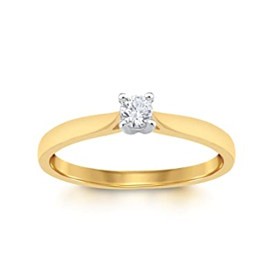 ea253a21b7121 Perfect Love Diamond Collection Women s 18 ct Gold Round Solitaire Diamond  Engagement Ring  Amazon.co.uk  Jewellery