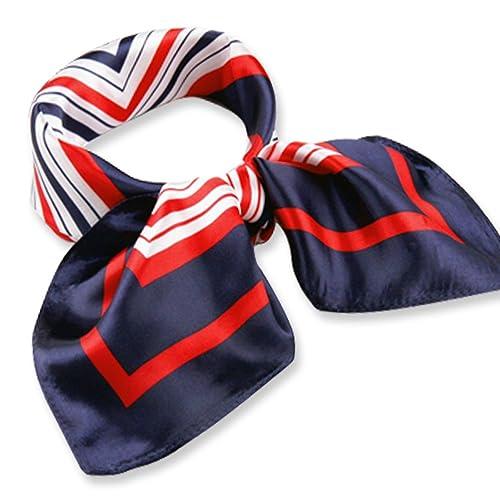 Señoras de cuello pequeño bolso de la bufanda de la cabeza, el patrón de colores para el uniforme, a...