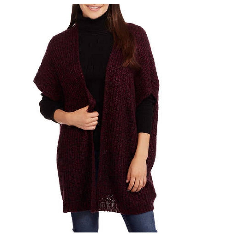 Faded Glory Women's Shaker Cape Sweater